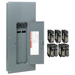 homeline 200 amp 30-space 60-circuit indoor main breaker qwik-grip plug