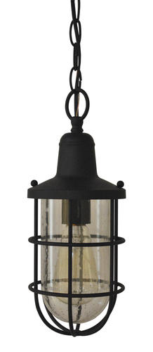 Westinghouse Crestview Nautical Cage 1 Light Textured Black