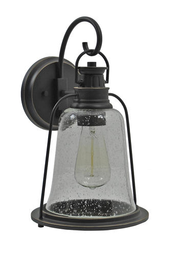 Westinghouse Brynn 1 Light Textured Black Outdoor Wall
