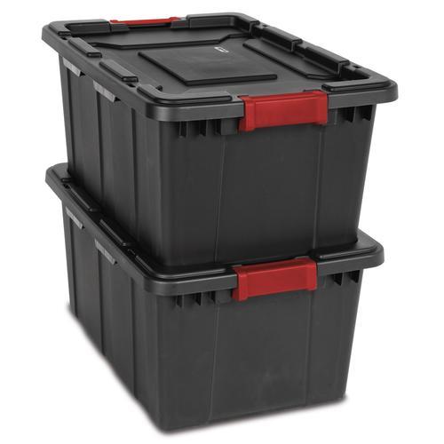 Sterilite® 27 Gallon Black Industrial Storage Tote At Menards®