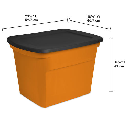 Charmant Sterilite® 18 Gallon Orange And Black Halloween Storage Tote At Menards®
