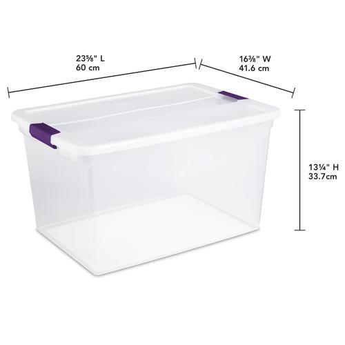 Sterilite® ClearView Latch™ 66 Quart Clear Storage Bin at ...
