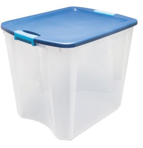 Sterilite Latch Carry 26 Gallon Clear Storage Bin
