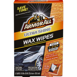 ArmorAll® Ultra Shine Wax Wipes - 12 Count