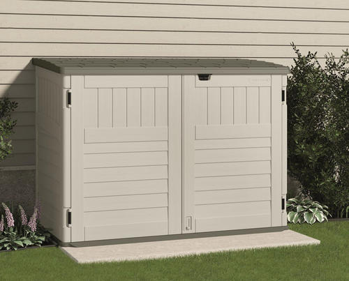 suncast the stow away horizontal storage unit at menards - Garden Sheds Menards