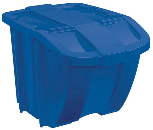 Suncast 18 Gallon Blue Recycle Bin With Lid