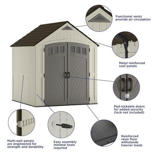 Suncast® Covington® Storage Shed at Menards®