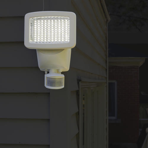 Patriot Lighting White Led Single Head Solar Ed Motion