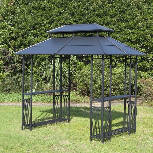 Backyard Creations Steel Roof Grill Gazebo