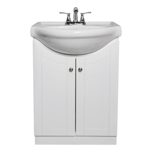 "Dreamwerks 24""W x 19-3/8""D Vanity and White Porcelain ..."