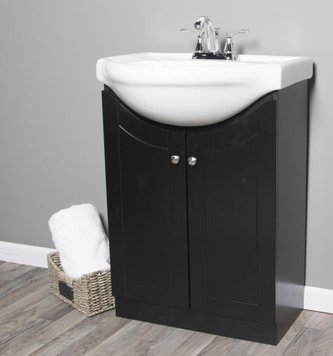 Dreamwerks 24 Quot W X 19 3 8 Quot D Vanity And White Porcelain