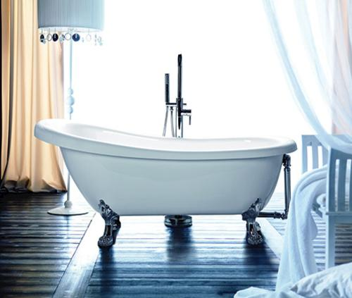 "dreamwerks coralie 67-1/4"" w x 28-1/4"" d white clawfoot bathtub at"