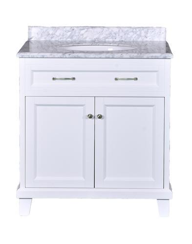 Simpli Home Winston 36 In Bath Vanity Soft White With Quartz Marble Top Ay Basin