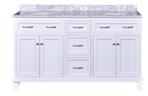 Addison Vanity With Carrara Marble