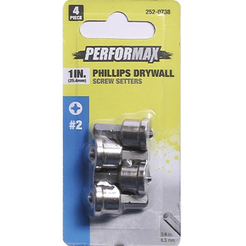 Performax P2r Phillips 1 Drywall Screw Setter 4 Piece At Menards