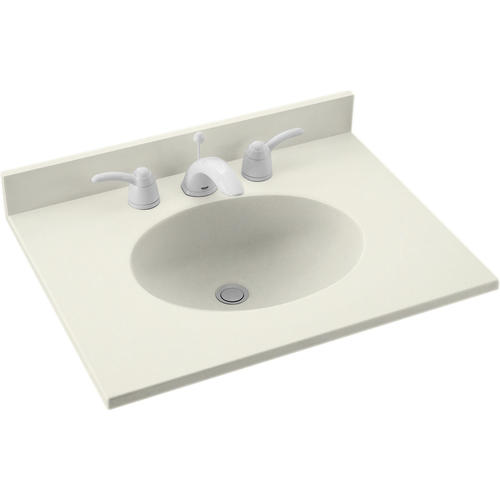 Swan Ellipse 25 W X 19 D Solid Surface Vanity Top With Oval Integrated Bowl At Menards