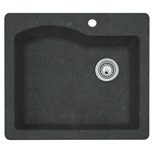 """swan granite 25""""w x 22""""d single bowl kitchen sink at menards�"""