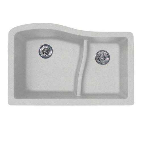 Swan Dual Mount 32 Quot Granite Composite Double Bowl Kitchen