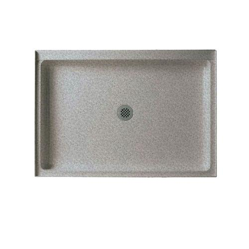 Curb Shower Base With Center Drain