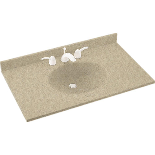 Swan Ellipse 43 W X 22 D Solid Surface Vanity Top With Oval Integrated Bowl At Menards