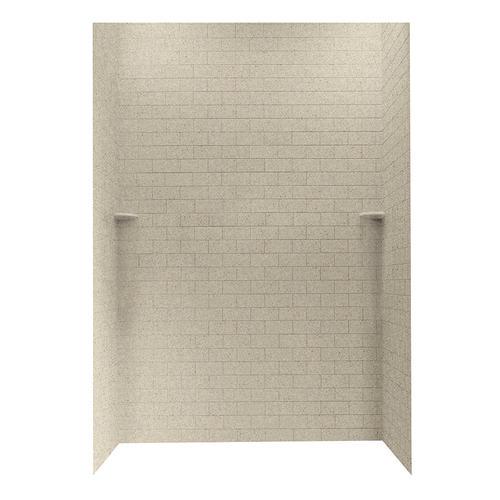Swanstone 62 X 36 Subway Tile Shower Wall Surround At Menards