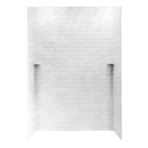 Swanstone 62 Quot W X 36 Quot D X 96 Quot L Subway Tile Shower Wall