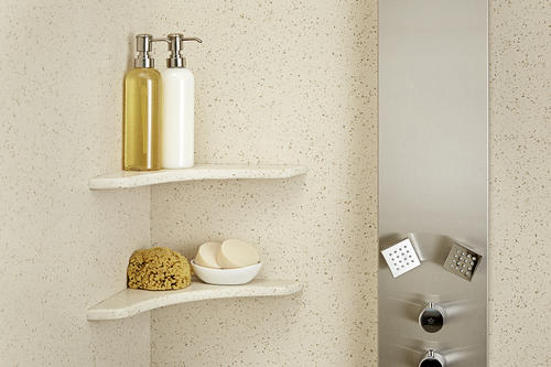 Swan CCSS-1125 Crystal White Corner Soap Dish