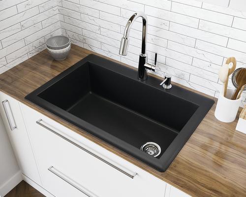 Swan Dual Mount 33 Granite Composite Single Bowl Kitchen Sink At Menards
