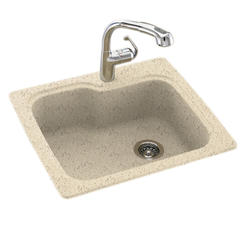 Swan Dual Mount 25 Quot Solid Surface Single Bowl Kitchen Sink