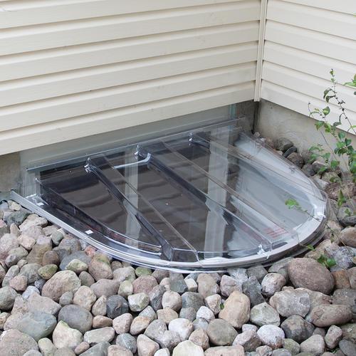 wellcraft 76 x 46 clear polycarbonate window well cover at menards rh menards com menards basement window wells menards basement window wells