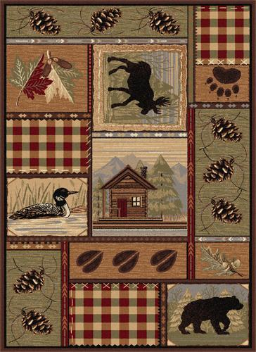 Designers Image Lodge Area Rug 5 3 X 7 3 At Menards