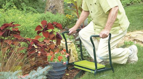 garden joy folding garden seat kneeler at menards - Garden Joy