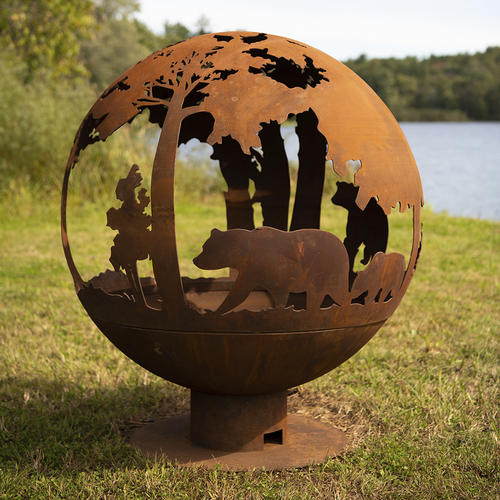 Backyard Creations 40 Steel Fire Pit Globe At Menards
