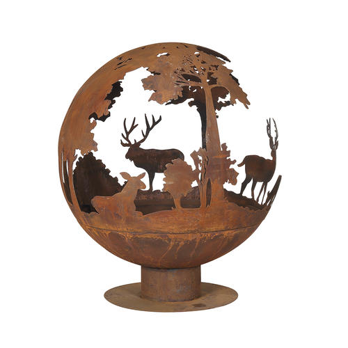 "Backyard Creations® 40"" Steel Fire Pit Globe at Menards®"