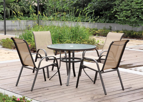 backyard creations 5 piece solano dining set at menards - Menards Patio Design