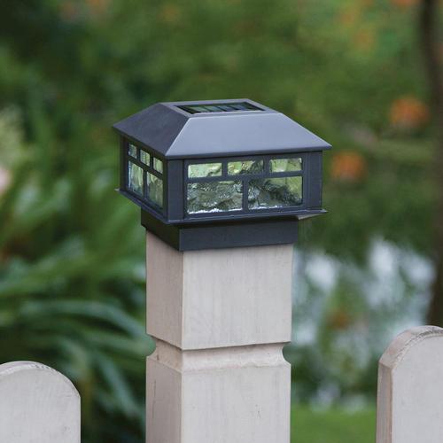 Solar Lights At Menards: Patriot Lighting® Solar Integrated LED Sunbury Post Cap