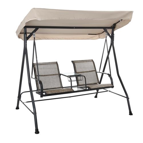 Backyard Creations 2 Person Patio Swing With Table At Menards