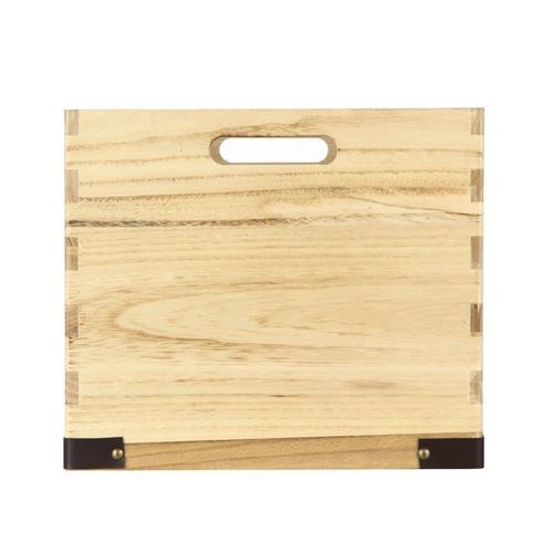 Home Zone Natural Wood Crate With Laser Accent At Menards