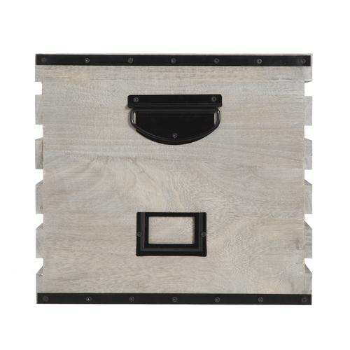 Home Zone Gray Wood Crate With Tag Holders At Menards