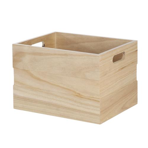 Home Zone 11 Wood Crate At Menards