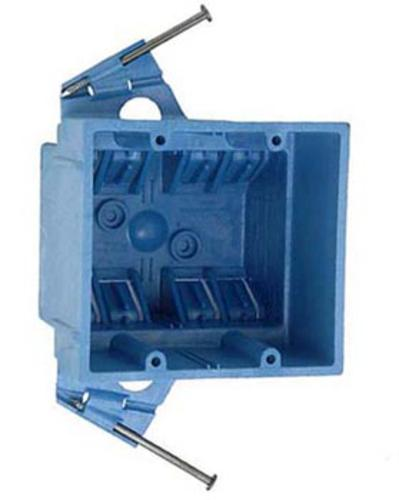 Carlon 2 Gang Super Blue 35 Cu In Pvc Electrical Switch Outlet Box At Menards