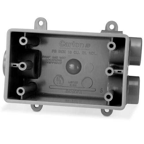Carlon 1 Gang 3 Hole Weatherproof Electrical Outlet Box At Menards