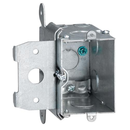 Steel City 1 Gang 20 Cu In Steel Adjustable Depth Electrical Switch Outlet Box At Menards