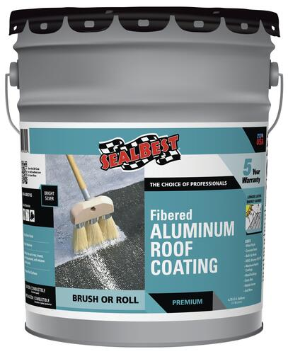 Sealbest Professional Grade Fibered Aluminum Roof Coating 4 75 Gal At Menards