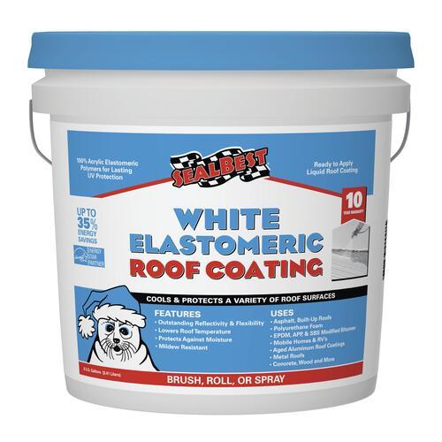 Sealbest White Elastomeric Roof Coating 0 9 Gal At Menards