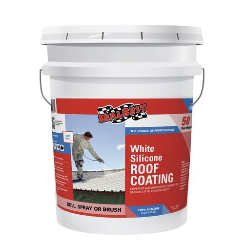 Sealbest White Silicone Roof Coating 4 75 Gal At Menards