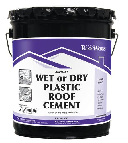 RoofWorks Wet Or Dry Plastic Roof Cement   4.75 Gal. At Menards®