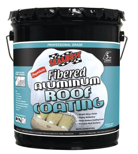 Sealbest Professional Grade Fibered Aluminum Roof Coating