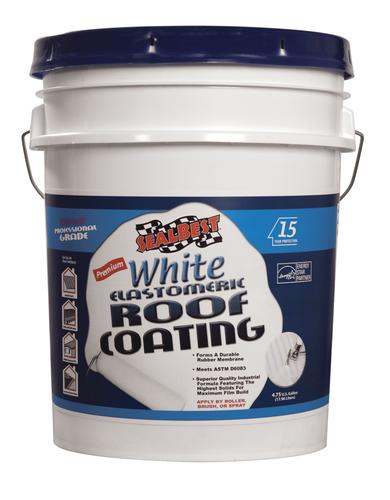 Sealbest Premium White Elastomeric Roof Coating 4 75 Gal