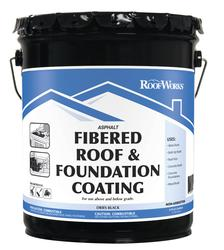 Roofworks 174 Fibered Roof Amp Foundation Coating 4 75 Gal